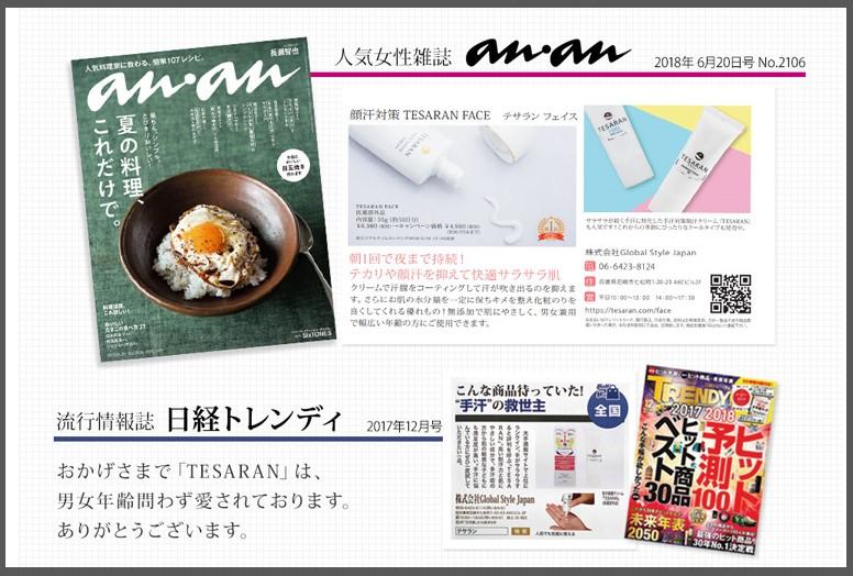テサランが紹介された雑誌